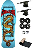 Powell Peralta Steve Caballero Light Blue Chinese Dragon Re-Issue Old School Skateboard Deck Complete Reverse Kingpin Trucks Black 70mm Wheels