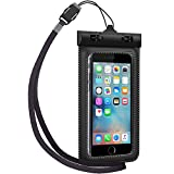 Waterproof Case, TETHYS Universal Waterproof Bag [Ultrapouch] for iPhone 6S, iPhone 6, iPhone 5S 5C 5 4S, Galaxy S6, S6 Edge S5 [Black] Protective pouch cover Fit Up to 5.3 inch Diagonal
