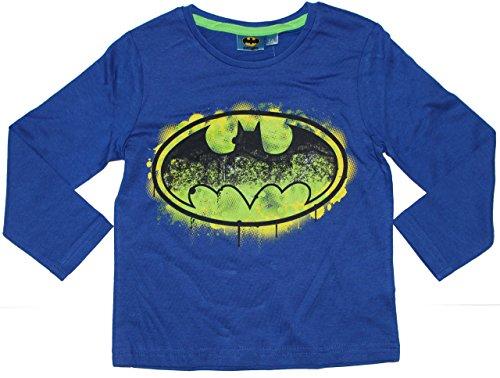 Unbekannt-Camiseta-de-manga-larga-Bsico-para-nio-Multicolor-azul
