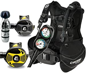 Buy Cressi Start Scuba Diving BCD, Regulator, Console, Octopus, Dive Gear Package by Cressi