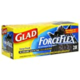 Glad ForceFlex Trash Quick-Tie-Black-28 ct, 30 Gal