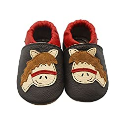Sayoyo Baby Horse Soft Sole Leather Infant Toddler Prewalker Shoes