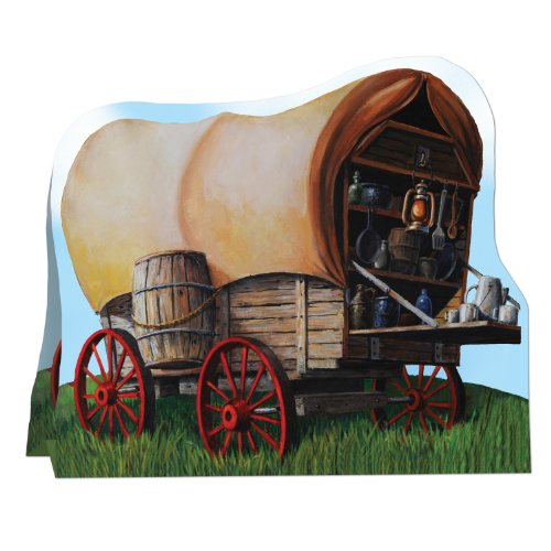 3-D Chuck Wagon Centerpiece Party Accessory (1 count) (1/Pkg) - 1
