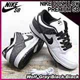 NIKE(ナイキ) ダンク ロー プレミアム DUNK LOW PREMIUM SB Wolf Grey/Black-Black/メンズ(men's) 靴 スニーカー(313170-015)
