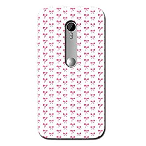 TOO MANY PINK BOWS BACK COVER FOR MOTOROLA MOTO G3