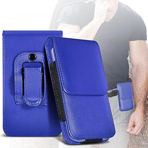 (Blue) Samsung Rex 60 Schutz PU-Leder Gürtelholster Pouch Tasche Halter By ONX3