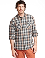 North Coast Pure Cotton Graded Checked Shirt