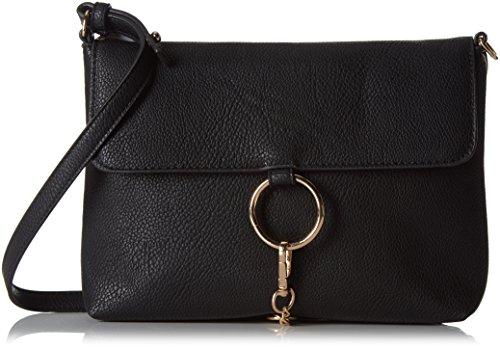 PIECESPCPUK CROSS BODY BAG - Borsa a tracolla Donna , Nero (nero (nero)), 25x17x6 cm (B x H x T)
