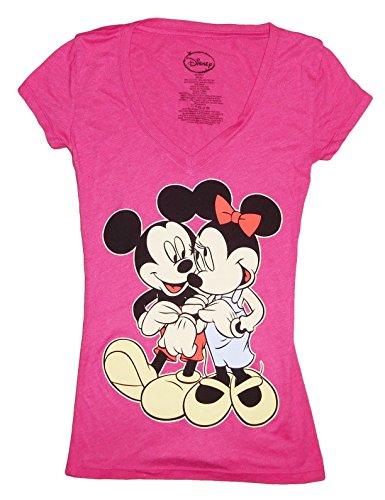 disney juniors mickey minnie mouse v neck t shirts. Black Bedroom Furniture Sets. Home Design Ideas