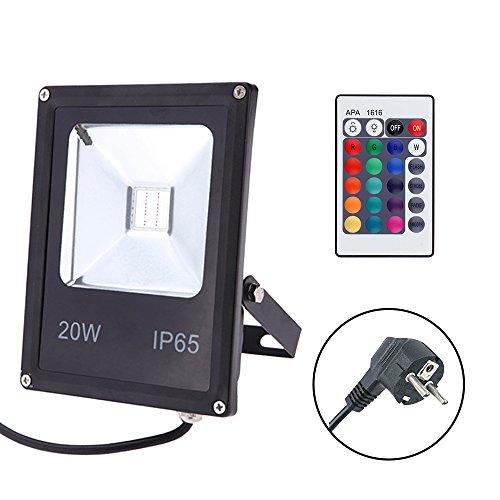 GLW-20W-RGB-Fluter-mit-FernbedienungAuenleuchten-Wasserdicht-IP65-Farbwechsel-LED-FlutlichtInsgesamt-16-Farben-4-ModiMemory-Funktion-multi-Farbe-LED-StrahlerEuropischer-Stecker