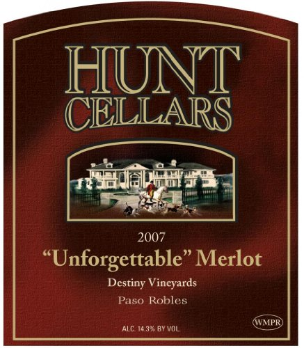 2007 Hunt Cellars Winemaker'S Private Reserve 'Unforgettable' Merlot, Paso Robles 750 Ml