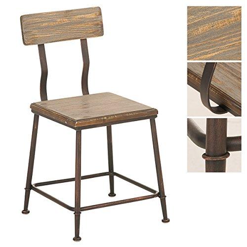 CLP-Industrial-Design-Stuhl-QUEENS-mit-Lehne-4-Beine-Material-Holz-Metall-Sitzhhe-44-cm-Sitzflche-35-x-35-cm-bronze