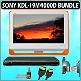 Sony Bravia M-Series KDL-19M4000/D 19-Inch 720p LCD HDTV (Orange) + Sony DVD Player w/ Deluxe Access