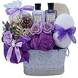 Art of Appreciation Gift Baskets Lavender Renewal Spa Bath and Body Gift Set, Medium