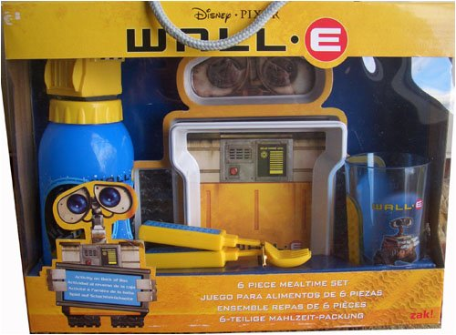 wall e 6 piece dinnerware mealtime set - 1