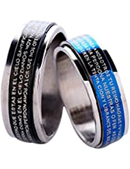 Christian Bible Couple Rings For Couples Ring For Love Engagement Wedding Gifts Ring Sets Men WomenALRG0286ML