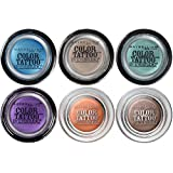 Maybelline New York Eye Studio Color Tattoo 24 HR Eyeshadow Set 6-Piece Collection