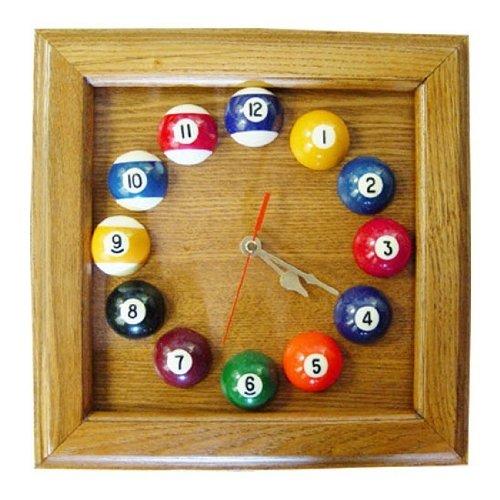 Square Frame Billiards Wall Clock