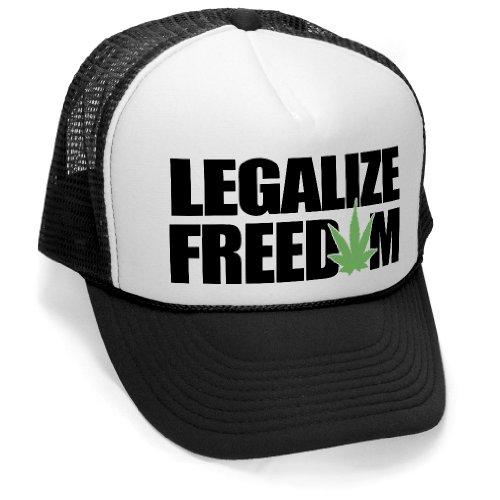 megashirtz-Legalize-Freedom-Vintage-Style-Trucker-Hat-Retro-Mesh-Cap