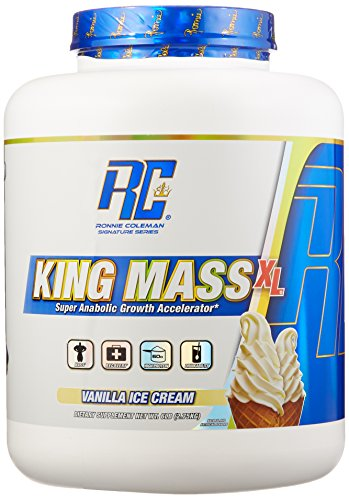 Ronnie Coleman Signature Series, King MASS-XL Super Anabolic Growth Accelerator, Vanilla Ice Cream, 6 Pound (Ronnie Coleman Whey Protein compare prices)