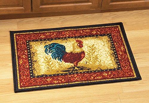 Farmyard Rooster Floor Rug