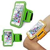 iPhone 6 (4.7 Inch) Sports Armband Case Cover,Nika shop Easy Fitting Sports Universal Armband With Build In Screen Protect Case Cover Running band Stylish Reflective Walking Exercise Mount Sports Sports Rain-proof Universal Armband Case with Key Holder Pocket + Free Screen Protect For Apple iphone6 4.7 inch Verizon, AT&T Sprint, T-mobile, Unlocked(Not Fit iPhone 6 Plus 5.5 inch) (Nika shop-Green)
