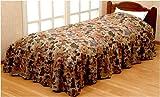 メーカー直販 ベッド布団カバー ゴブラン織ベッド布団カバー シングル 150×210cmフリル長さ35cm