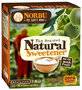 Natvia Norbu The Ancient Natural Sweetener,  40 Count