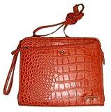 Jessica Simpson Women's/Girl's Shoulder/Wristlet Bag, Paprika Croc