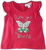 Pumpkin Patch Baby Girls 0-24M Double Flutter Short T-Shirt, Pink (Fuchsia Rose), 6-12 Months