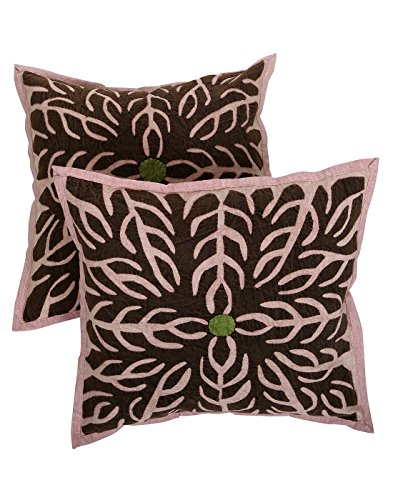Rajrang Traditional Cotton Patchwork Sofa Cushion Cover Set Of 2 Pcs