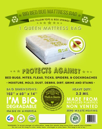 1 Mattress Protective Cover. Fits All Queen And Full Sizes Beds. Pillow Top And Box Spring Compatible. Ideal For Students To Protect Against Bed Bugs, Lice, Moisture, Stains, Moving, Storage And Transportation. Go Green With Our Eco Friendly Mattress Bag! front-740642