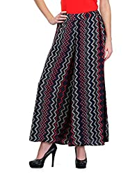 Colornext Crape Multi Palazzo for Women (Size: Large)