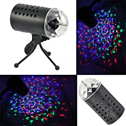TSSS LED RGB Crystal Ball Sound Active Stage Light for Children Birthday Party Wedding Lighting Show Celebrations