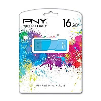 PNY Attache 16GB USB 2.0 Flash Drive, Blue (P-FD16GATT3B-GE)