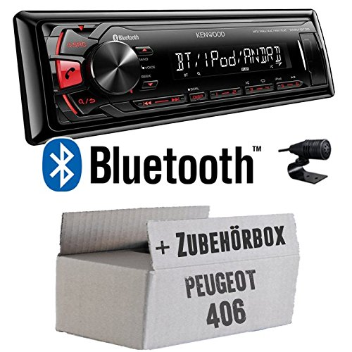 Peugeot 406 kenwood kMM-bT35-mP3/uSB avec kit de montage autoradio avec bluetooth