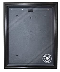MLB Houston Astros Cabinet Style Jersey Display, Black by Caseworks