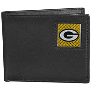 NFL Green Bay Packers Gridiron Leather Bi-Fold Wallet