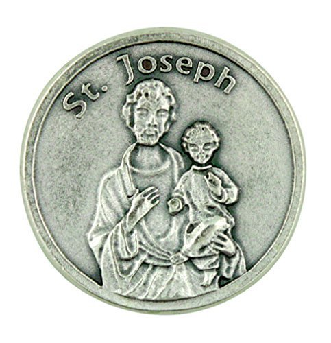 Eartly Father of Jesus Christ Patron Saint St Joseph Pocket Token with Prayer - 1