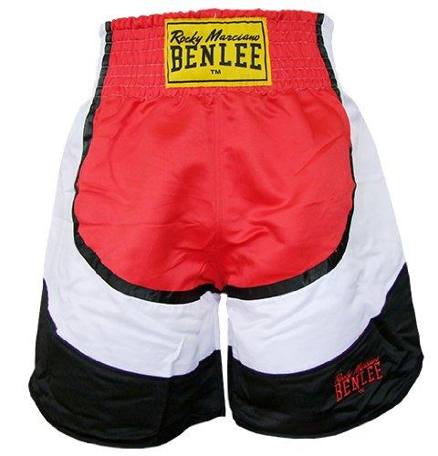 BENLEE Rocky Marciano, Pantaloncini da Boxe Dempsey, Multicolore (Rot/Schwarz/Weiß), XL