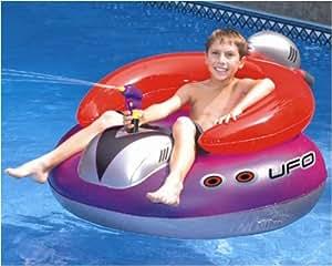 Kid's Inflatable Spaceship Floating Pool Toy