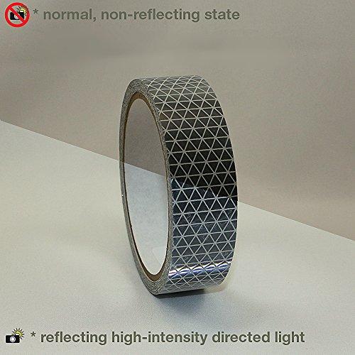 Reflexite REF-DB Retroreflective V92 Daybright Tape: 1 in. x 15 ft. (Silver-White)