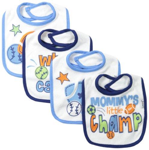 Lamaze Baby-Boys Newborn Boys 4 Pack Terry Bib, Sport, One Size