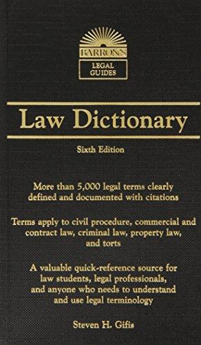Barron's Law Dictionary: Mass Market Edition (Barron's...