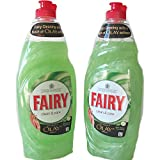 (Pack of 2) New Fairy Clean & Care Dish Washing Up Liquid with a Touch of Olay softness (Aloe Vera & Cucumber) 625 ml x 2