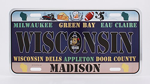 Dimension 9 Home Decorative Plate, Wisconsin front-832099