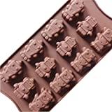 Yunko Baking Molds Silicone 12-Cups Robots Mold Chocolate/Brownie Pop Baking Mold