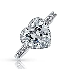 buy Bling Jewelry 925 Sterling Silver Cz Heart Ring