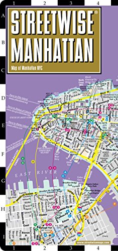 Streetwise Manhattan Map - Laminated City Street Map of Manhattan, New York: Folding Pocket Size Travel Map (Streetwise (Streetwise Maps))