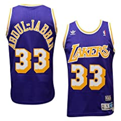 Los Angeles Lakers #33 Kareem Abdul-Jabbar NBA Soul Swingman Jersey, Purple by adidas
